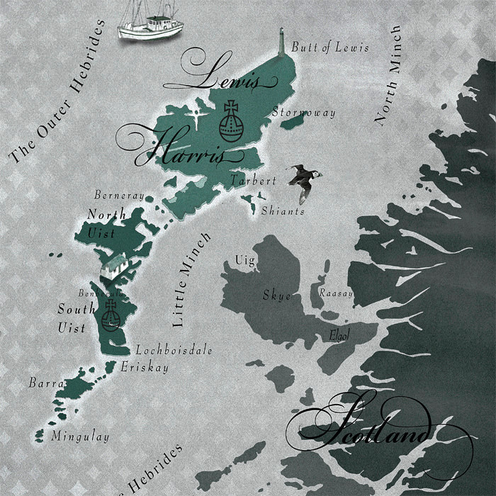 Ian Lawson - Outer Hebrides Map